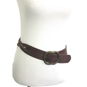 Genuine Italian Leather Belt Twisted Side Detail